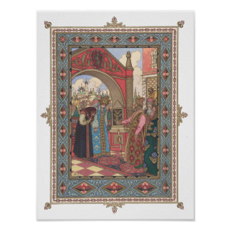 Poster Vassilissa et grand-mère avant le tsar