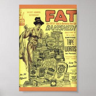 Poster VERS de BANDE ASEPTISÉS par annonce vintage de