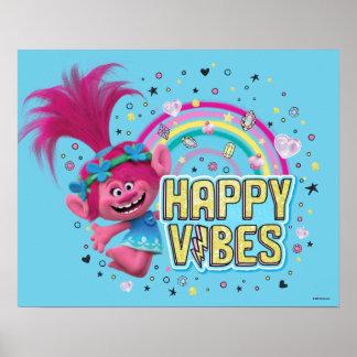 Poster Vibraphone heureux de pavot des trolls |