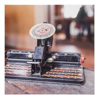 Poster Vieille machine à écrire