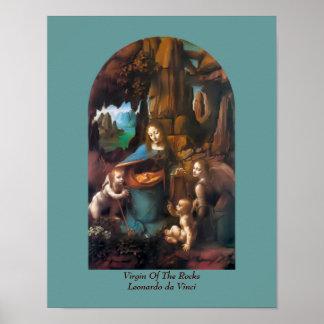 Poster Vierge d'affiche religieuse vintage de da Vinci de
