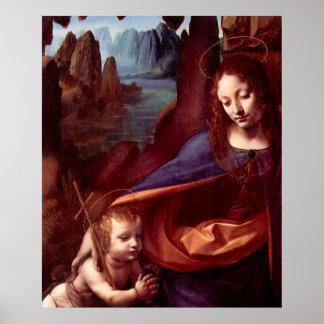 Poster Vierge des roches par Leonardo da Vinci