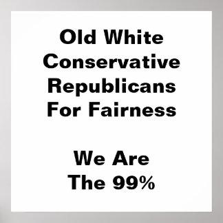 Poster Vieux républicains conservateurs blancs pour