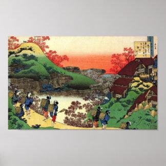 Poster Village japonais