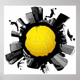 Poster Ville 2 de volleyball