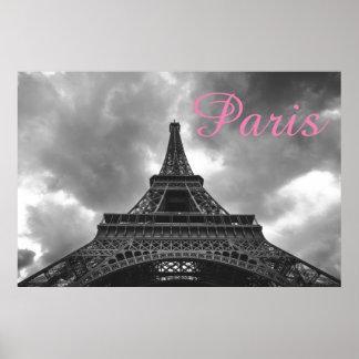 Poster Ville romantique d'amour de Paris de Tour Eiffel