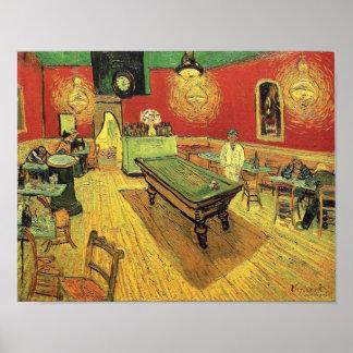 Poster Vincent van Gogh - les beaux-arts de café de nuit