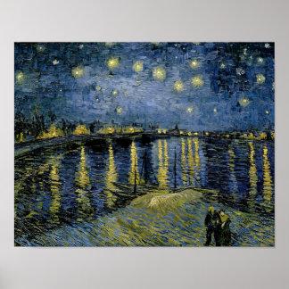 Poster Vincent van Gogh - nuit étoilée