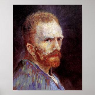 Poster Vincent van Gogh - peinture 1887 d'autoportrait