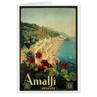 Poster vintage d'Amalfi, Italie Carte