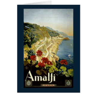 Poster vintage d'Amalfi Italie Italie reconstitué Carte