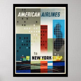 Poster vintage d'art déco de New York