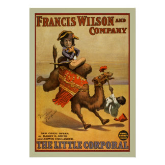 Poster vintage d'arts du spectacle d'opéra