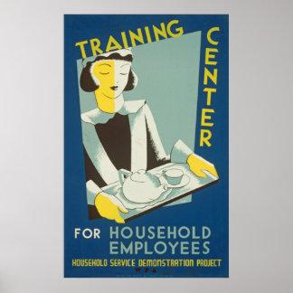 Poster vintage de centre de formation