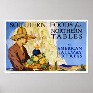 Poster vintage de chemins de fer des Etats-Unis