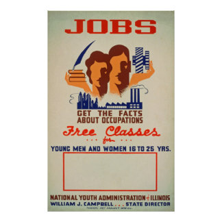 Poster vintage de classes de JOB