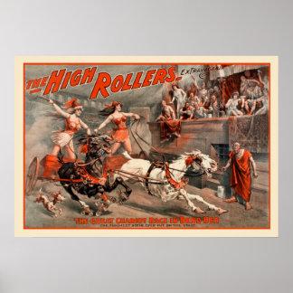 Poster vintage de flambeurs