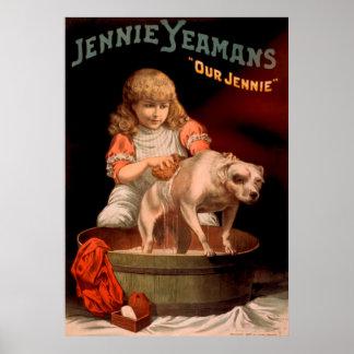 Poster vintage de Jennie Yeamans