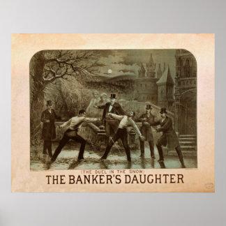 Poster vintage de la fille du banquier