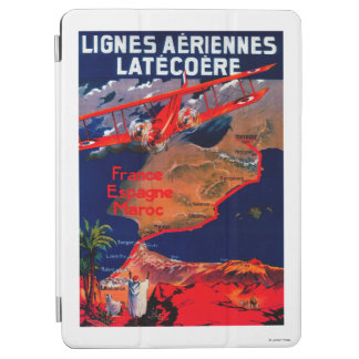 Poster vintage de Lignes Aeriennes Latecoere Protection iPad Air