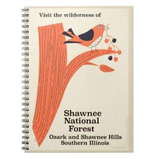 Poster vintage de l'Illinois de réserve forestière Carnet