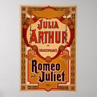 Poster vintage de Romeo et de Juliet