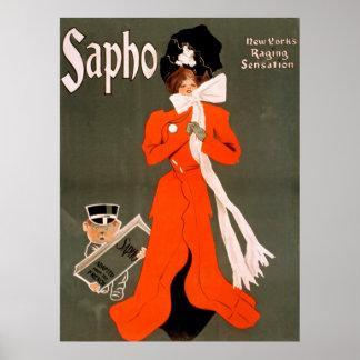 Poster vintage de Sapho