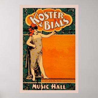 Poster vintage de théâtre de variétés