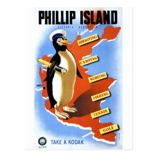 Poster vintage de Victoria Australie d'île de Carte Postale