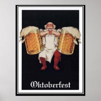 Poster vintage d'Oktoberfest