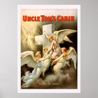 Poster vintage d'oncle Toms Cabin