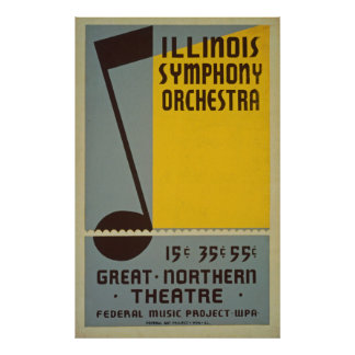 Poster vintage d'orchestre symphonique