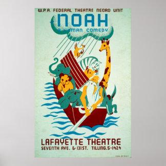 Poster vintage fédéral de théâtre de WPA d'arche