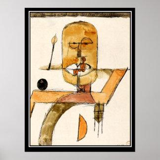 Poster vintage moderne d'art abstrait