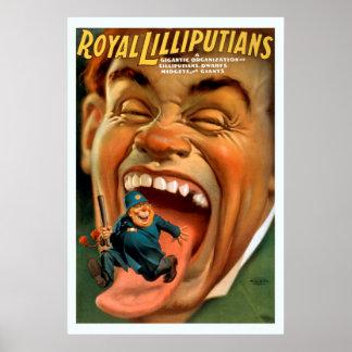 Poster vintage royal de Lilliputians