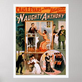 Poster vintage vilain d'Anthony