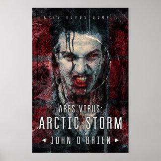 Poster Virus d'ARES : Affiche arctique de mur de tempête