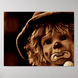 Poster Visage triste de poupée de clown