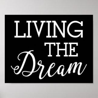Poster Vivant la bonne vie rêveuse