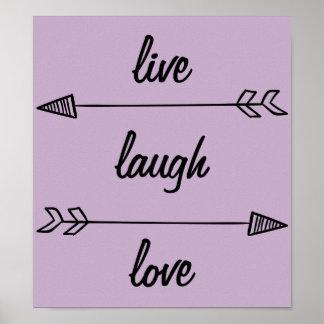 Poster Vivent l'affiche d'amour de rire