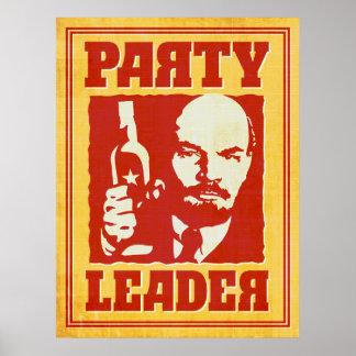 Poster Vladimir Lénine - partie satirique de Bolchevik