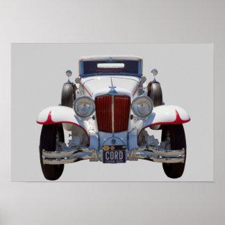Poster Voiture ancienne de cabriolet de 1929 cordes 6-29