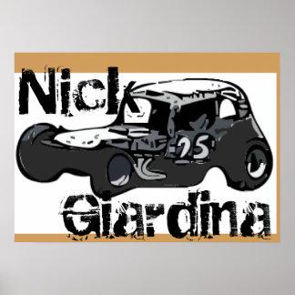 Poster Voiture de course modifiée par Stockcar de coupé