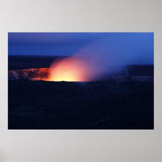 Poster Volcan hawaïen
