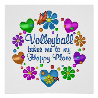 Poster Volleyball mon endroit heureux
