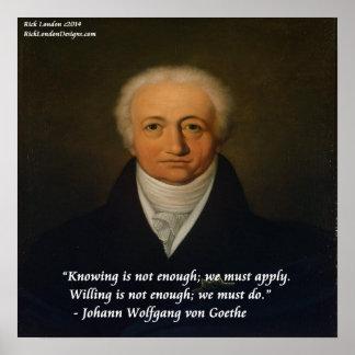 Poster Von Goethe We doit faire l'affiche de citation