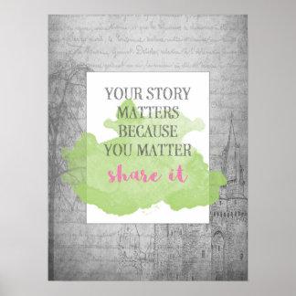 Poster Votre histoire importe l'affiche 18x24 inspirée de