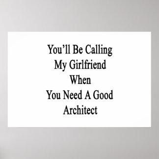 Poster Vous appellerez mon amie quand vous avez besoin
