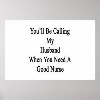 Poster Vous appellerez mon mari quand vous avez besoin