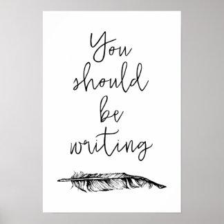 Poster Vous devriez écrire